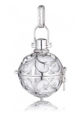 ER01L - Engelsrufer medál gömb fehér  ezüst L