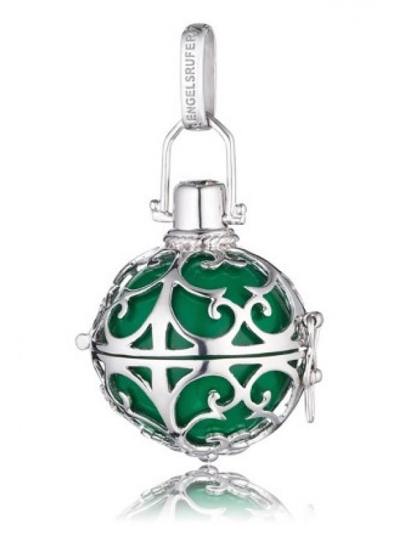 ER04M - Engelsrufer medál gömb zöld ezüst M