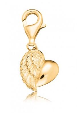 ERCHEARTWINGG - Engelsrufer charm szív-szárny arany