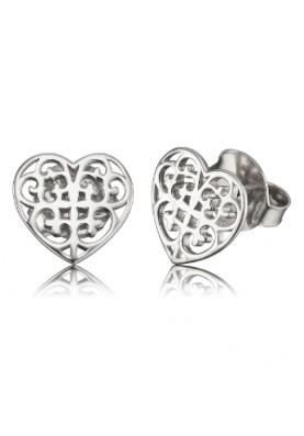 EREORNAHEARTST - Engelsrufer fülbevaló szív ezüst