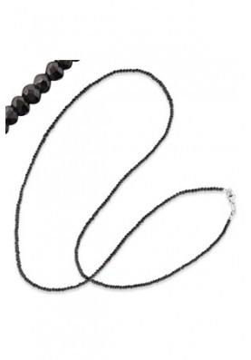 ERN80BS - Engelsrufer lánc gyöngy fekete 80cm