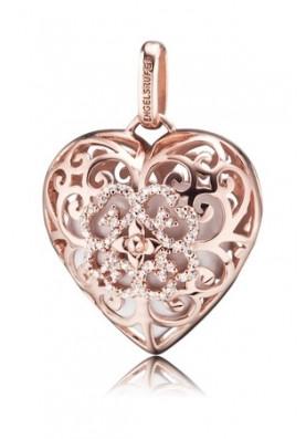 ERP01HEARTZILR - Engelsrufer medál szív köves fehér rosé