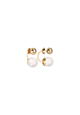 Rebecca BRONZE EARRINGS WITH PEARL Hollywood pearl