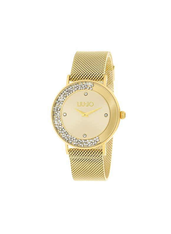 TLJ1346 Quartz Analogue Watch- Dancing Slim Gold