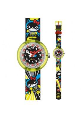 FLNP016-15 - Swatch DC Hello Kitty Batgirl gyermek karóra