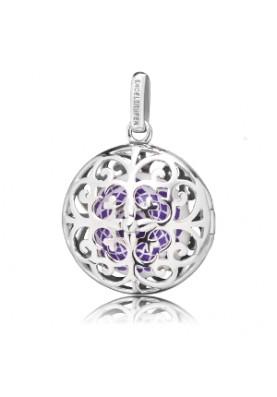 ERPCHAKRA01 Engelsrufer medál chakra lila ezüst