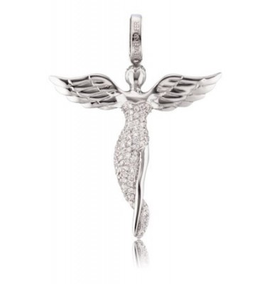 ERPANGELS - Engelsrufer medál köves angyal ezüst S
