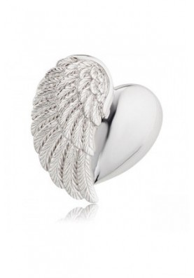 ERPHEARTWING - Engelsrufer medál szív szárny ezüst