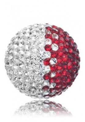 ERS05ZIL - Engelsrufer hang gömb köves piros L
