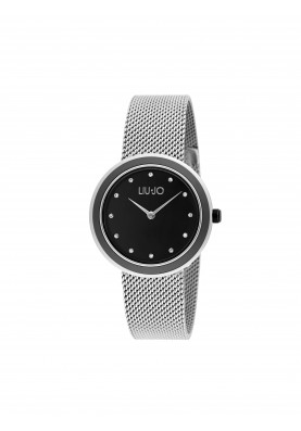 TLJ1198A Quartz Analogue Watch- Luxury Round Silver Black