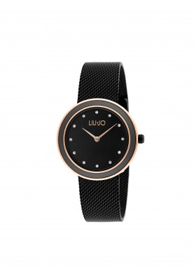 TLJ1199A Quartz Analogue Watch- Luxury Round Black