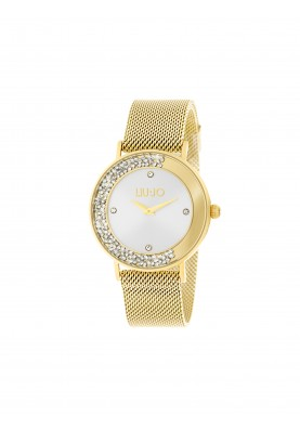 TLJ1347 Quartz Analogue Watch- Dancing Slim Gold Silver